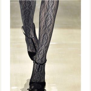 Authentic Gucci Python Lace Tights Fawn Brown